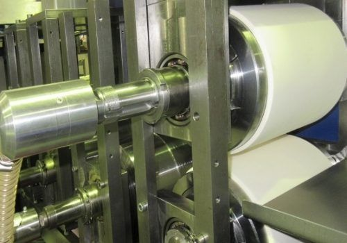 vacuum rolls in test machine
